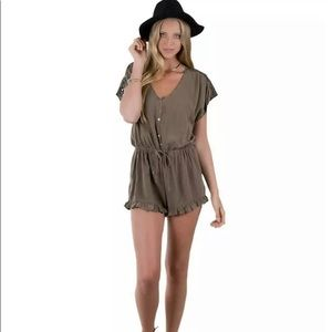 Olive Green Boutique Romper